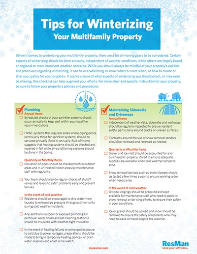 Tips for Winterizing Your Multifamily Property
